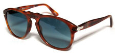 PERSOL 649 54 LIGHT HAVANA S3 BLUE POLARIZED SUNGLASSES CUSTOM PERSONALIZZATO