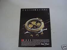 advertising Pubblicità 1991 OROLOGIO PAUL PICOT U-BOOT