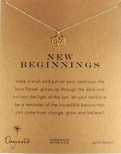 "Dogeared Rising Open Lotus New Beginnings Gold Dipped 16"" Boxed Necklace"