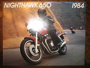 1984 Honda CB650SC Nighthawk NOS OEM DEALER'S Folleto CB650 Sc CB 650SC 650 84