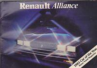 1983 RENAULT ALLIANCE  --  vintage original car owners manual