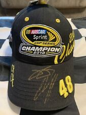 2010 Jimmie Johnson And Chad Knaus Autographed Cup Championship Hat PROTOTYPE