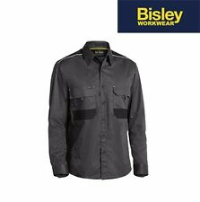 "BISLEY WORKWEAR - ""ORIGINAL"" COTTON DRILL SHORT SLEEVE WORK SHIRT - BS1433"