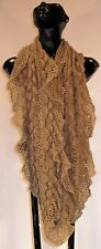 NWT Sacred Threads Acrylic Knitted  Boho Chic Vibrant  Unique Scarves