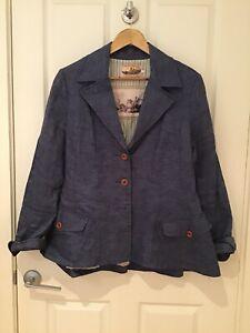 Trelise Cooper Linen Jacket Size 16