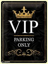 Nostalgic Art Blechschild VIP PARKING ONLY Very Importand People WICHTIG 30 x 40