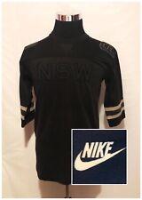 Nike Sportswear Nsw Mens 3/4 Sleeve Jersey Black 8 Sz S (C8)