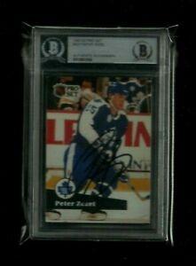 Peter Zezel 1991-92 Pro Set Auto BAS Beckett Authentic! Toronto Maple Leafs STAR