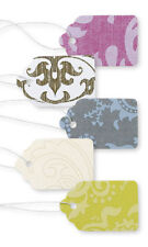 "Price Tags 500 Assorted Damask Paper 1"" x 1 â…�"" String Merchandise Pre Strung"