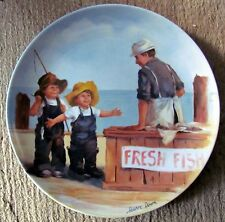 "Jeanne Down's Friends I Remember - ""Fish Story"" (1983) Knowles Collector's Plate"