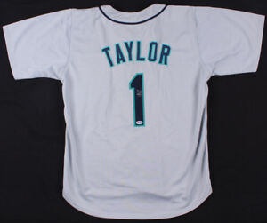 Chris Taylor Signed Seattle Mariners Jersey (PSA) Utility Infielder / Outfielder