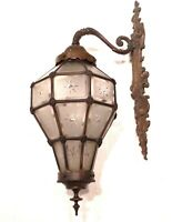 ANTIQUE VERSAILLES WALL MOUNTED BRONZE & BRASS CHANDELIER LANTERN