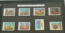 Brilliant Collection of 8 Greece Mint Stamps of Flowers 1989