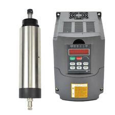 1.5KW ER16 80MM AIR-COOLED SPINDLE MOTOR AND MATCHING 1.5KW INVERTER VFD FOR CNC