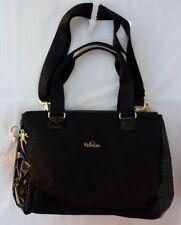 KIPLING Large Black Nylon & Patent Tote Shoulder Bag Purse Womens NEW