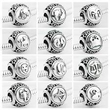 Charms Anhänger für Pandora Armband Echt Silber 925 12 Sternzeichen Geschenk Neu