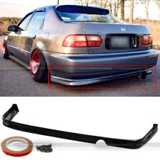 For 92-95 Honda Civic 2DR 4DR JDM Polyurethane T-R Style Rear Bumper Chin Lip