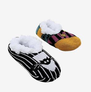 Disney The Nightmare Before Christmas Jack Sally Fluffy Slipper Socks Anti Slip