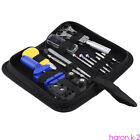 Watch Repair Tool Kit Case Opener Link Spring Bar Band Pin Hand Remover Hammer W