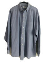 Brooks Brothers 346 Button Down Dress Shirt Mens 2XL (18) 35 Blue Striped Cotton