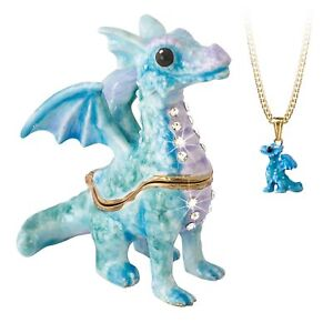 Secrets from Hidden Treasures 1071 Blue Dragon Trinket Box
