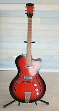 soviet vintage archtop LVOV Semi-Hollow electric guitar, USSR 70s very RARE!