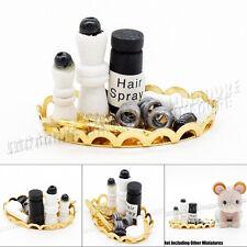 1:12 Dollhouse Hair Spray Comb Hair Dryer Salon Set Plate Miniature Decor Gift