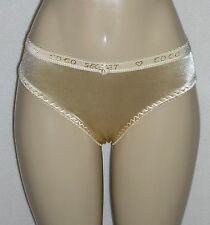 J NEW NWT Pale Yellow Gold Satin Bikini Panty Nylon Spandex Stretch 32W XL
