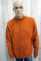 TIMBERLAND Maglione Uomo Taglia 2XL Cotone Casual Con Zip Man Pullover Sweater