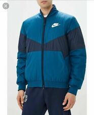 NIKE Sportswear Synthetic Fill Bomber Jacket Full Zip Fleece Winter Zip Pockets