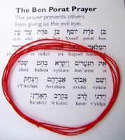 SET OF 2 Red String Kabbalah Bracelets Israel Evil Eye