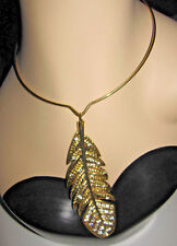 BETSEY JOHNSON INDIAN SUMMER LARGE FEATHER CHOKER STYLE NECKLACE