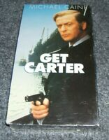 Get Carter, Michael Caine (1971), VHS tape Movie NEW SEALED 2000 Warner Home