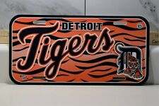 Detroit Tigers License Plate Wincraft Made in USA - Durable Plastic
