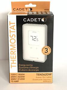 Cadet Non-Programmable Electronic Thermostat (Model: TEN362DW), 3600W, White