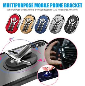 Car Phone Holder 360° Rotation Air Vent Bracket Stand Mount Finger Grip Ring UK