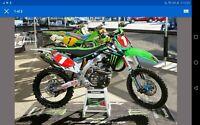 Monster Energy Kawasaki Graphics Kit KXF 250 2013 - 2016 Motocross Supercross