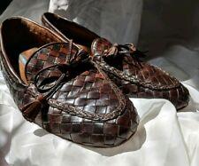 Vintage 80s Sesto Meucci Woven Loafers Italian Leather Size 9.5 flats neda women