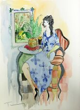 "ITZCHAK TARKAY ""WOMAN IN BLUE DRESS"" 