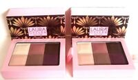 Lot of 2  LAURA GELLER 6 Shades Eyeshadow Pallete Unbox 0.35 oz slightly brushed
