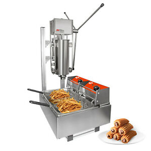 ALDKitchen Churros Maker | 5 L Capacity | L-Shape Stand and Double Deep Fryer