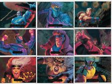 1994 MARVEL MASTERPIECES SERIES III 3 FOIL POWER BLAST 9 CARD INSERT CHASE SET