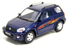 "New 5"" Kinsmart Toyota Rav4 Diecast Model Toy SUV 1:32 Blue"