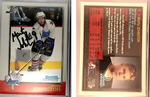 Marty Johnston Signed 1998 Bowman Chrome CHL #86 Card Hull Olympiques Autograph