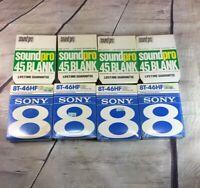Sony Soundpro 8-Track Blank Recording Cartridges - 45/46 min -Sealed - Lot Of 8