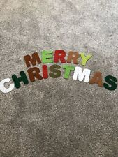 """Brand New - """"MERRY CHRISTMAS"""" Felt Letters - Traditional Colours - 3.5"""" Approx."""