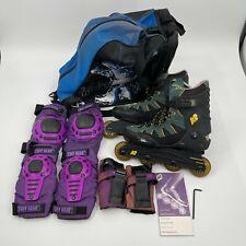 New listing K2 Ascent Inline Skates Roller Blades Soft Boot Green Black Mens Size 9 w Extras