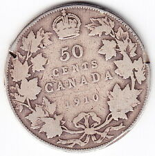 1910 Canada Silver 50-Cent Half Dollar Coin – ED Leaves