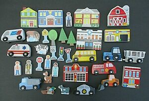 35 Brio & Thomas Compatible Wooden Accessories ~ People / Trees / Vehicles etc.