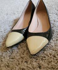 Kate Spade Patent Leather Black & Cream Flats. Sz. 7.5